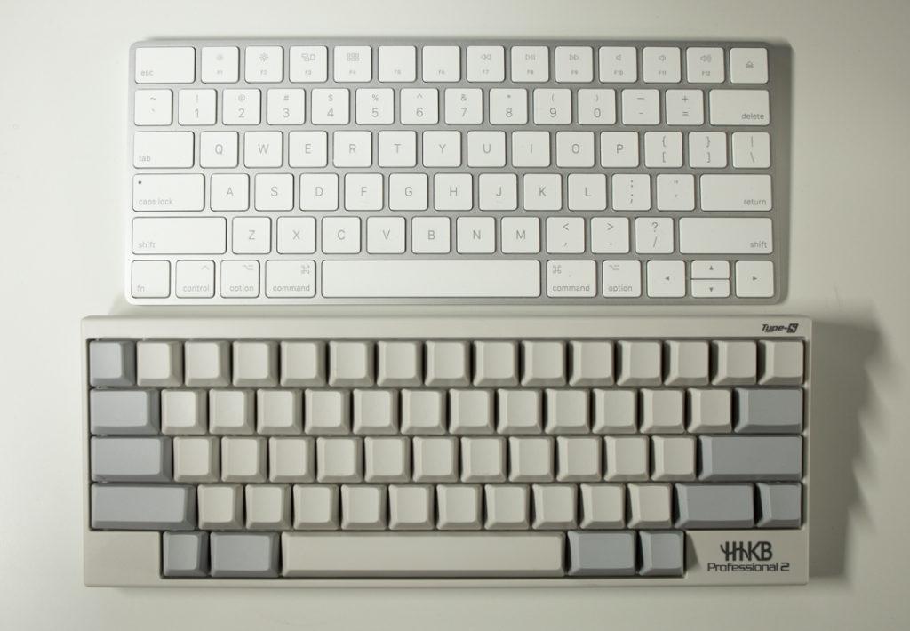 Magic Keyboard 2とHHKB Type-Sの比較