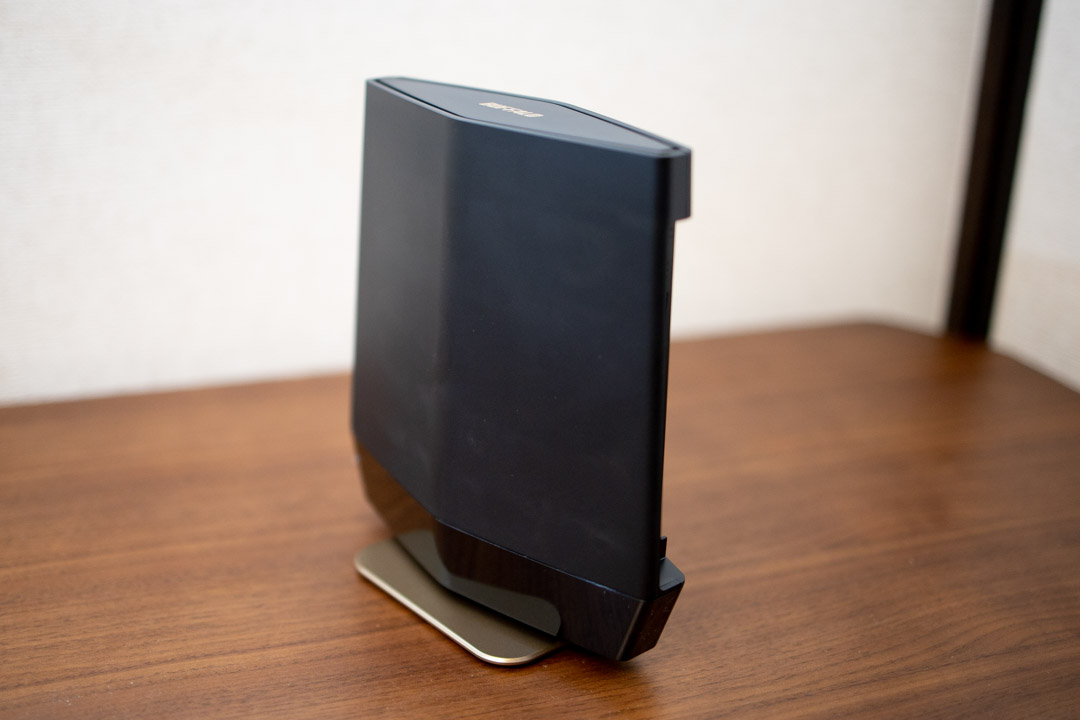 Buffalo wifi AX6 WSR-5400AX6 縦置き